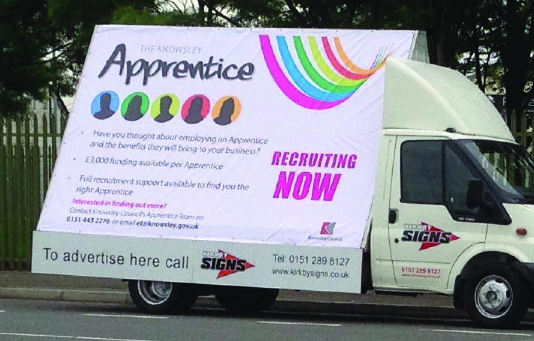 Nazdar Inks And Qps Help Kirkby Signs Take To The Road