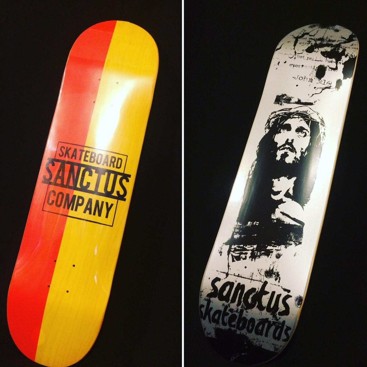 Nazdar Ink Always On Deck For Sanctus Skateboards