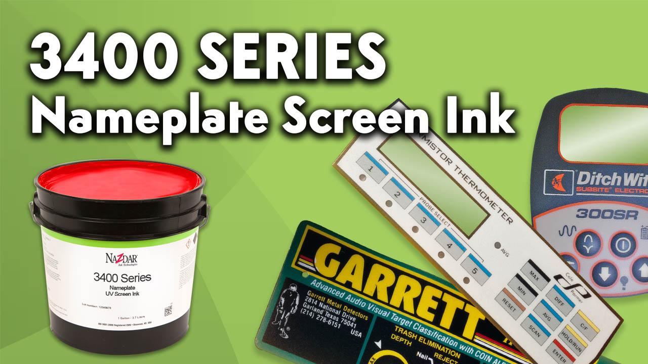 Nazdar 3400 Series Nameplate Uv Screen Ink