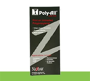 Poly-All Screen Inks Series Color Card (CARDPA)