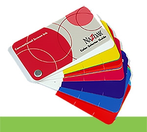 Solvent Based Inks Color Card (CARD375)